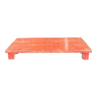 Vintage Naranja Painted Teak Bajot Table For Sale