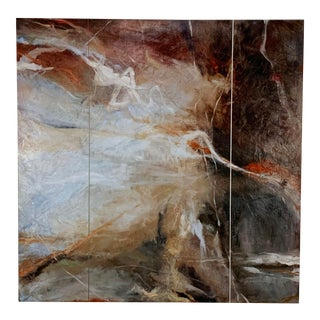 Postmodern Atmospheric Abstract Painting by Judith Solomon For Sale