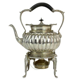 Antique Edwardian Sterling Silver Tea Kettle by William Hutton & Sons Ltd For Sale