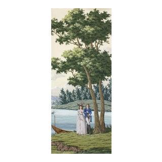 Tour Du Monde Hand Painted Scenic Panel For Sale