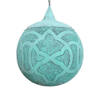 Verdigris Copper Globe Lantern Medium