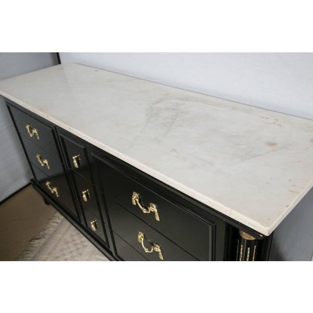 Maison Jansen Maison Jansen French Marble-Top Ebonized Sideboard For Sale - Image 4 of 8