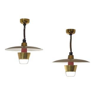 1960s John C. Virden Ceiling Lights - a Pair For Sale