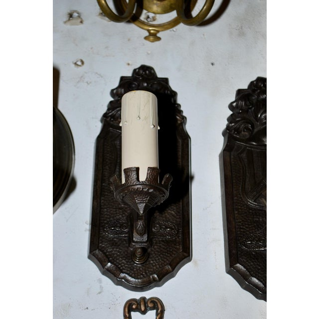 1920s 1920s Cast Iron Sconces - Set of 4 For Sale - Image 5 of 5