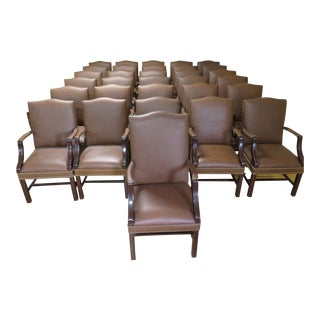 Chippendale Executive Room Presidential Chairs - Set of 30 For Sale