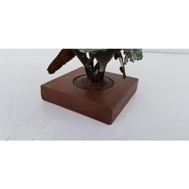 Metal 1970s Vintage Copper Plant Table Sculpture For Sale - Image 7 of 9