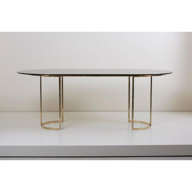 Hollywood Regency Huge Brass and Glass Dining Table by Romeo Rega For Sale - Image 3 of 8