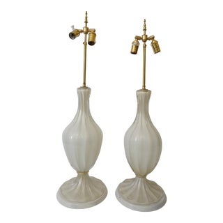 Vintage 1930's Barovier Et Toso Table Lamps - a Pair For Sale