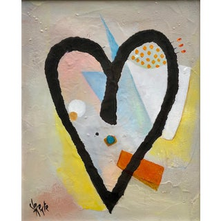 Abstract Oil Painting on Canvas by Clemente Mimun For Sale