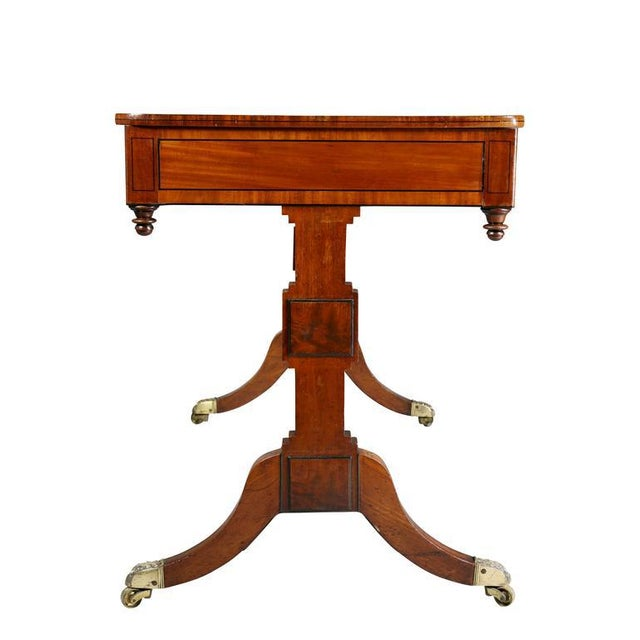 Mahogany Unusual Regency Mahogany Games Table For Sale - Image 7 of 10