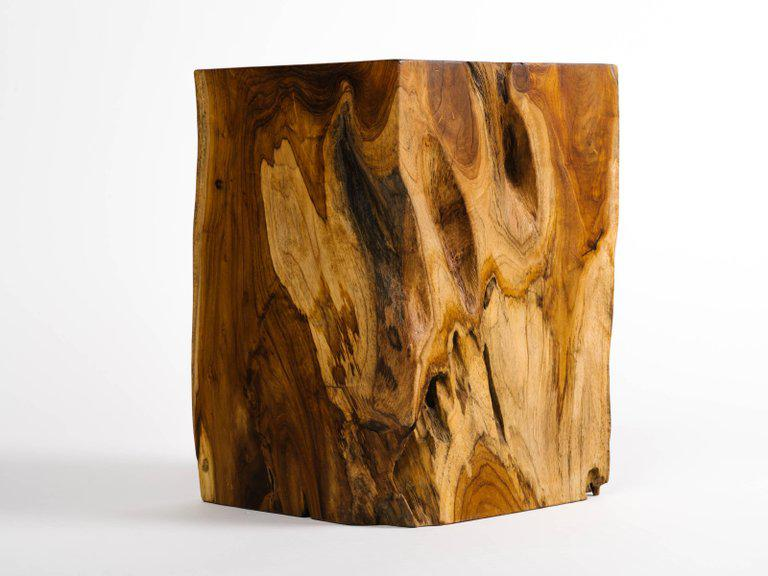 Organic Indonesian Teak Wood Side Table   Image 3 Of 9