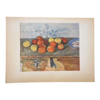 "Vintage Ltd. Ed. Post-Impressionist Lithograph-Paul Cezanne (Fr. 1839-1906)-""Pommes Et Biscuits"" For Sale"