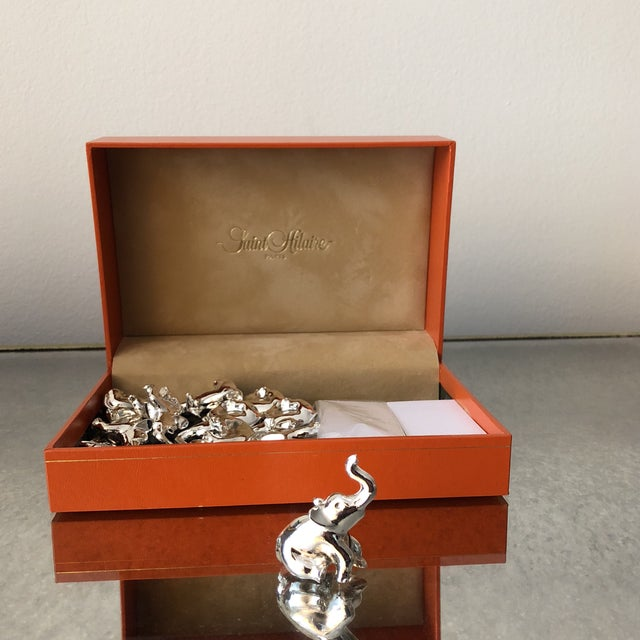 Saint Hilaire Elephant Place Holders - Set of 12 For Sale In New York - Image 6 of 7