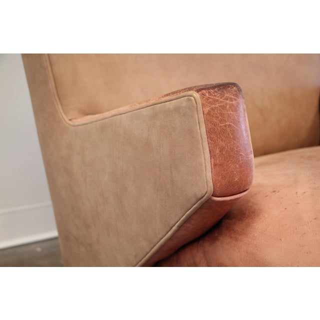 Pink 1950s Vintage Jens Risom for Knoll Custom Lounge Chair For Sale - Image 8 of 13