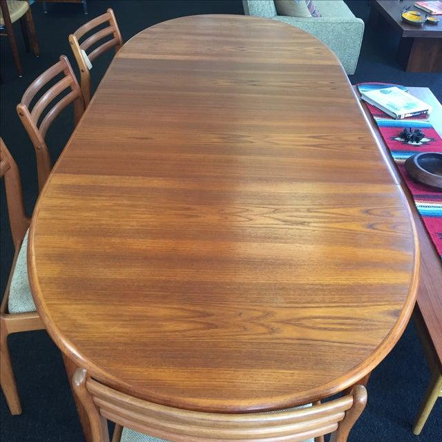 Danish Teak Dining Table - Image 4 of 9