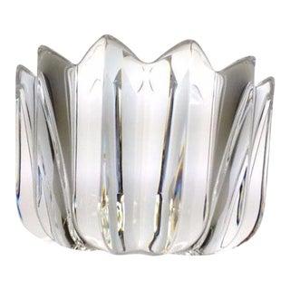 1980s Traditional Orrefors Fleur Crystal Bowl by Jan Johannson For Sale