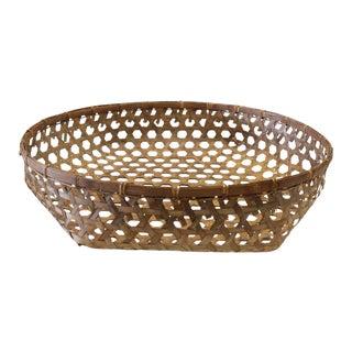 Large Antique Decorative Woven Basket