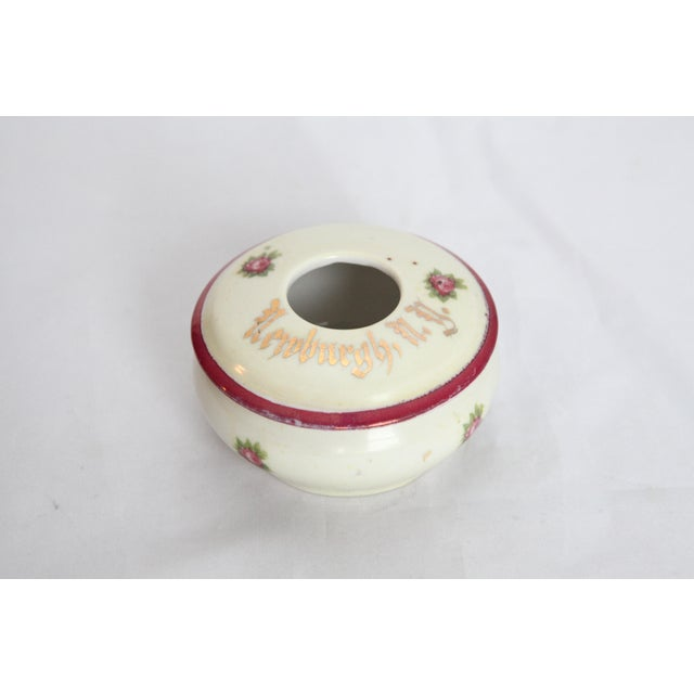 Antique Victorian Newburgh, NY Porcelain Hair Receiver - Image 9 of 11