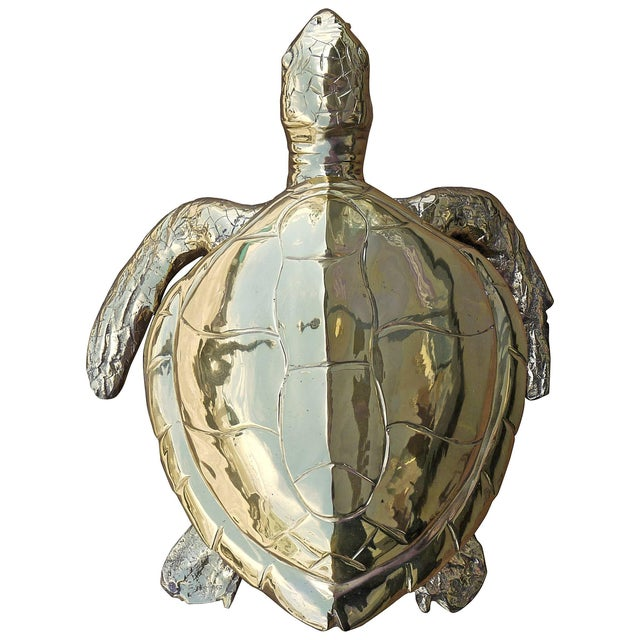 Stunning Large Scale Brass Sea Turtle Box For Sale In Richmond - Image 6 of 6
