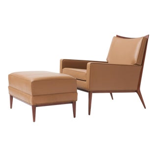 Paul mccobb lounge chair and ottoman for directional - 2 pieces For Sale