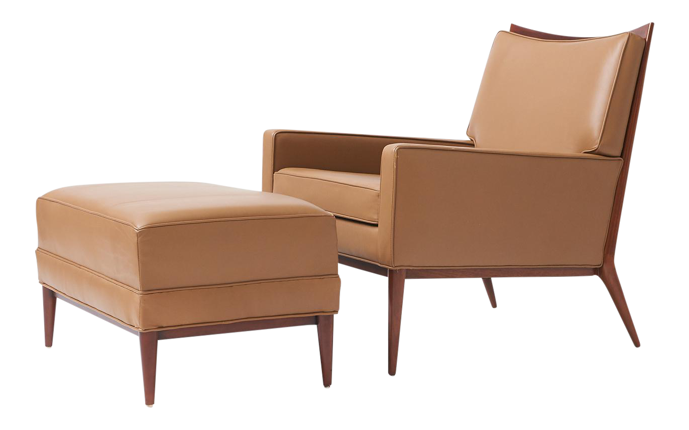 Paul Mccobb Lounge Chair And Ottoman For Directional   Image 1 Of 8