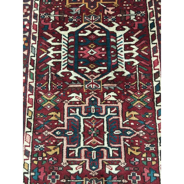 "Vintage Karajeh Persian Runner - 3'8"" X 9' - Image 4 of 9"