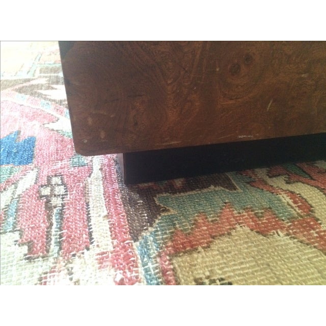 Mid-Century Burlwood Cube Coffee Table - Image 4 of 6