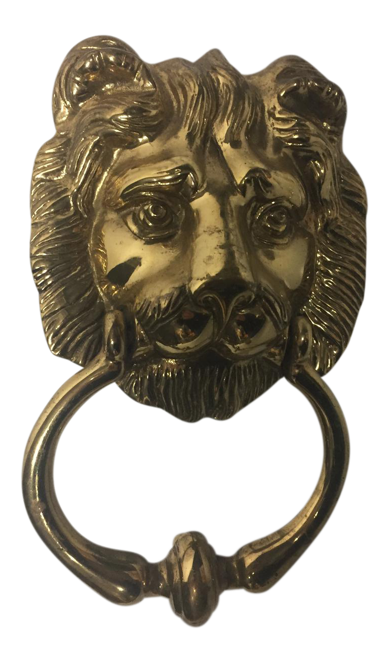 Brass Lionhead Door Knocker Made In Portugal Awesome Solid Brass Door  Knocker.I Canu0027