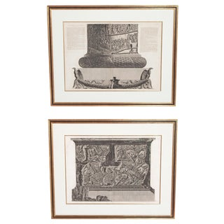 Trajan's Column Plates X and XI by Giovanni Battista Piranesi For Sale