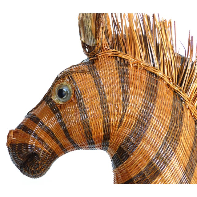 Chinese Woven Reed Zebra Trinket Box For Sale - Image 12 of 13