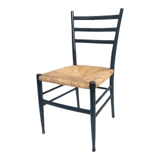 Otto Gerdau Rush Seat Dining Chair- Italian Modern For Sale
