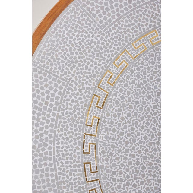 White Huge Mosaic Coffee Table by Berthold Müller, Germany, 1967 For Sale - Image 8 of 13