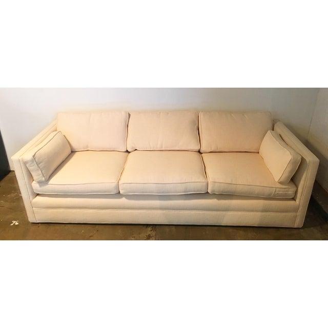 Knoll Tuxedo Linen Sofa - Image 8 of 10