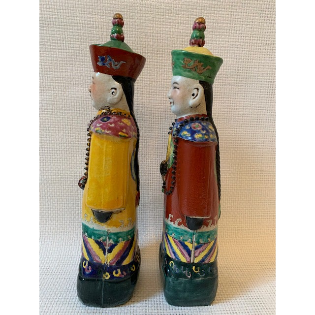 Vintage Chinese Figurines - a Pair For Sale - Image 4 of 8