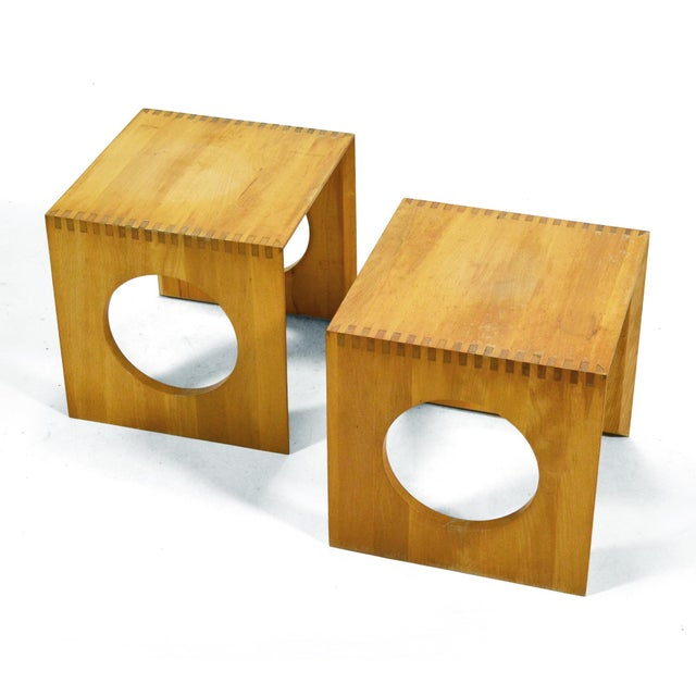 Jens Quistgaard Cube End Tables by Richard Nissen For Sale In Chicago - Image 6 of 11