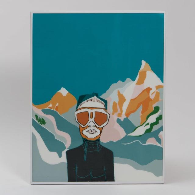 """Zermatt"" drawing over fiberglass, high density Eps foam with a parabolic carbon fiber frame - pure glass resin."