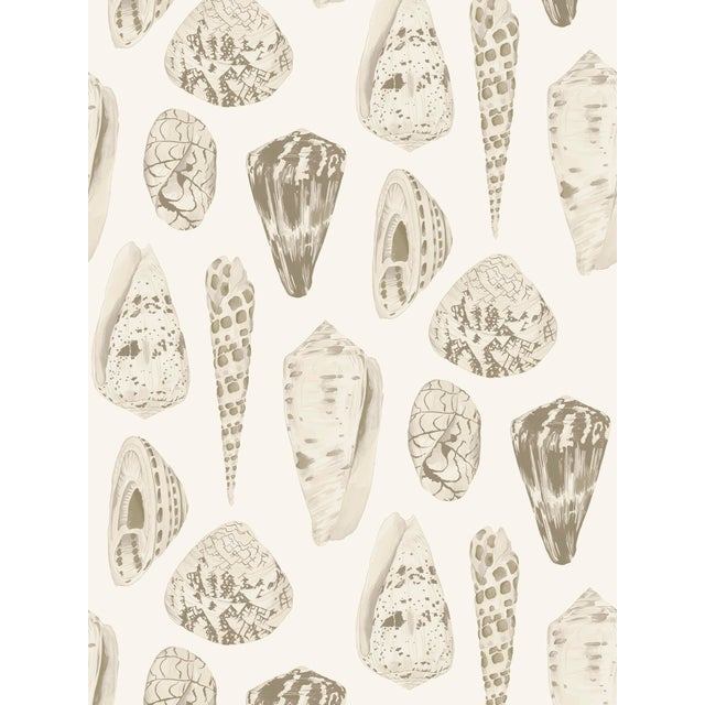 Transitional Red by Scalamandre Peel & Stick Wallpaper, Coquina, Cream For Sale - Image 3 of 3