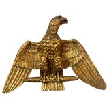Image of 19th Century Giltwood Federal Carved Wall Sculpture of an American Eagle For Sale