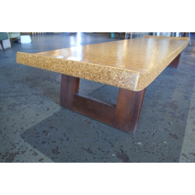 Art Deco Refinished Cork Top Coffee Table by Paul Frankl For Sale - Image 3 of 5