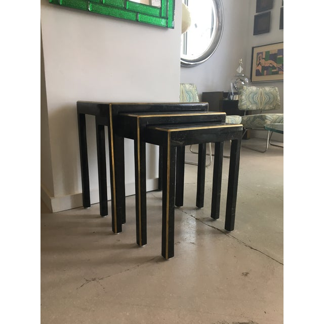1970s 1970s Art Deco Tessellated Stone Nesting Tables - Set of 3 For Sale - Image 5 of 9