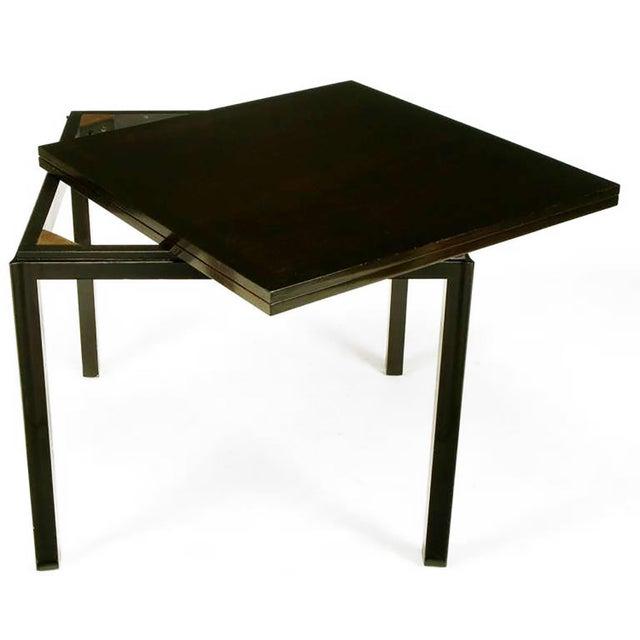 Edward Wormley #2299 Ebonized Walnut Flip-Top Game Table - Image 3 of 9