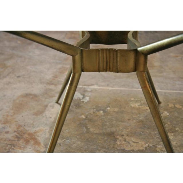 Italian 1950s Brass Cocktail Table For Sale - Image 5 of 9