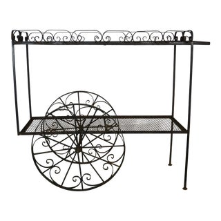 1960's Vintage French Style Plant Cart For Sale