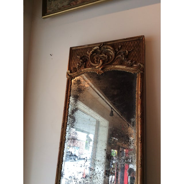 Antique French Giltwood Mirror - Image 4 of 8