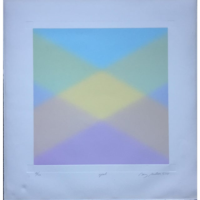 Barry Nelson 1978 Op-Art Etching Abstract - Image 9 of 9