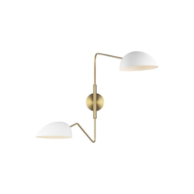 2020s Jane Double Task Sconce Matte White For Sale - Image 5 of 5