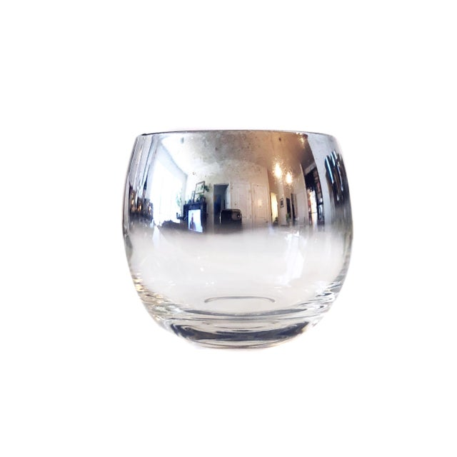 Dorothy Thorpe Mid Century Modern Vitreon Queen's Lustreware Silver Ombre Glassware Set For Sale - Image 4 of 7