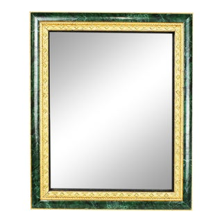 """Rectangular Wood Malachite and Gold Photo Frame 8"""" X 10"""" For Sale"""