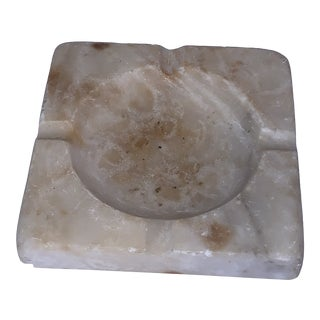 Vintage Mid-Century Modern Italian Alabaster Ashtray For Sale