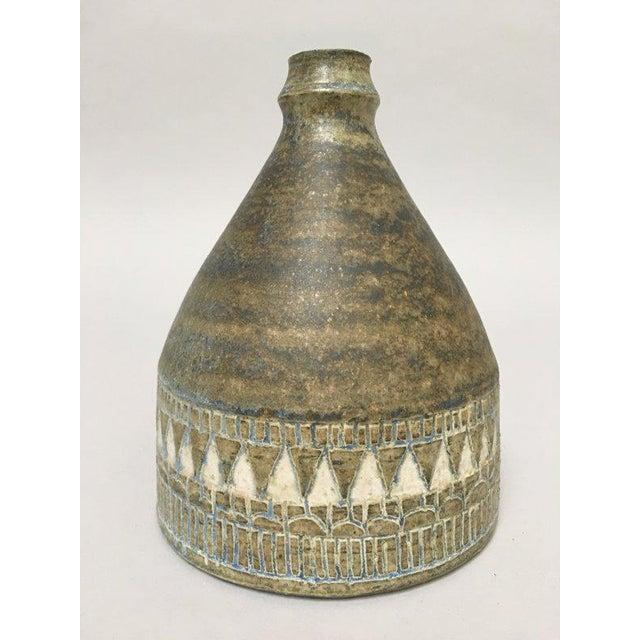 Mid-Century Modern 1960s Scandinavian Modern Hald Soon Studio Ceramic Bottle Vase For Sale - Image 3 of 9